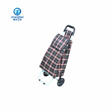 Promotion folding shopping trolley bag with 2 wheels bag shopping trolley bag