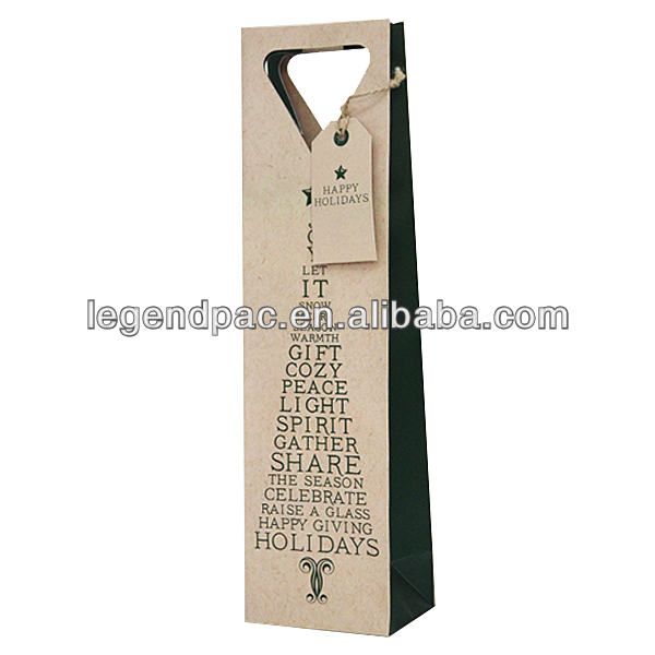 Luxury wine package box / paper wine bag/packaging box for wine