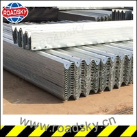 Reasonable Price Galvanized W beam Bridge Guardrails