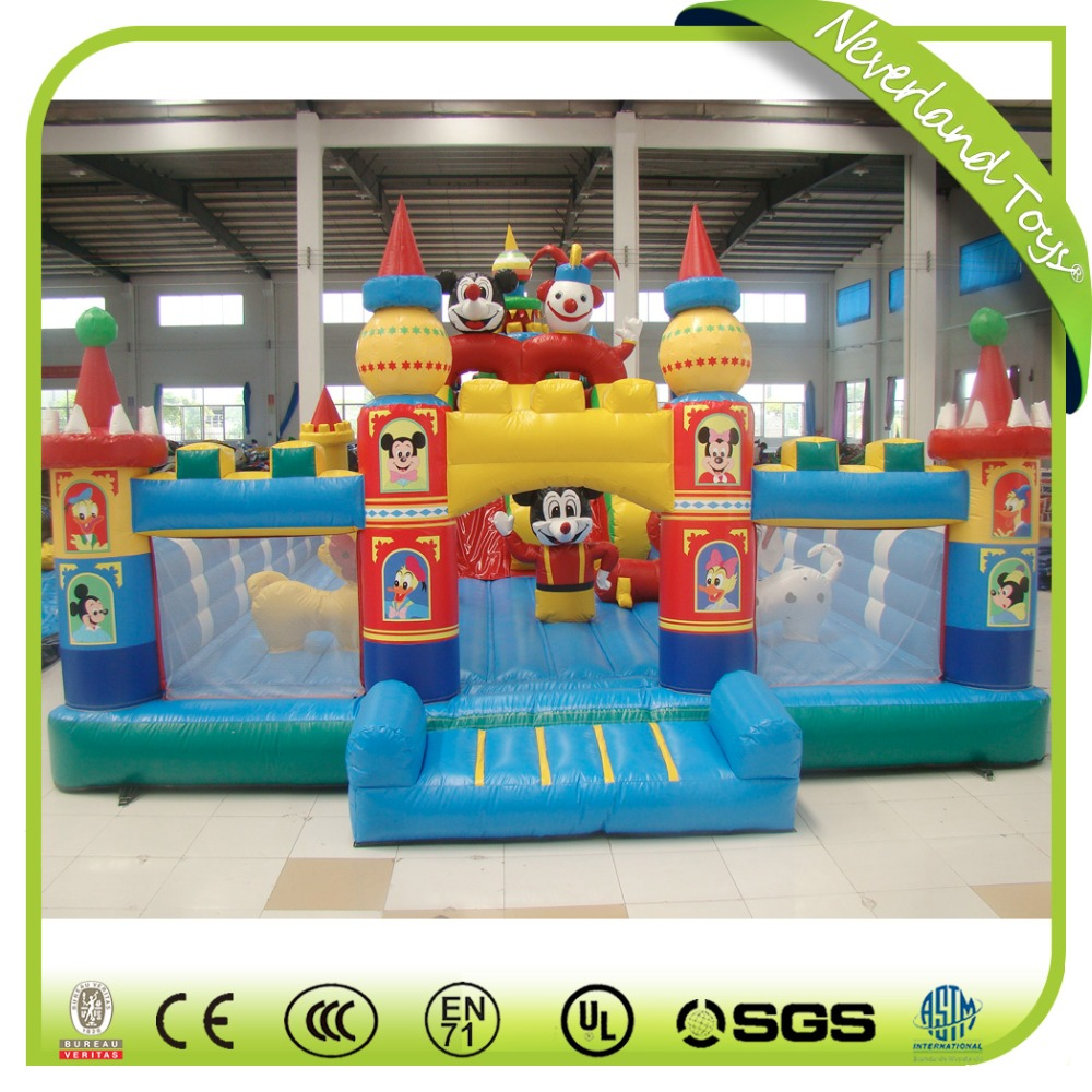 New Design Inflatable Carton Bouncy Castle, Kids Outdoor InflatIable Carton Castle For Sale