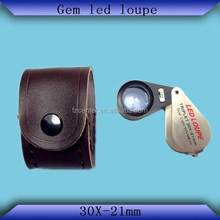 Metal Folding jewerly loupe only LED Lights with Buyer's logo service offered