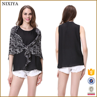 Convertible princess cutting blouse casual blouse for fat woman
