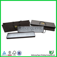 Brown color hair extensions packaging box and bag set
