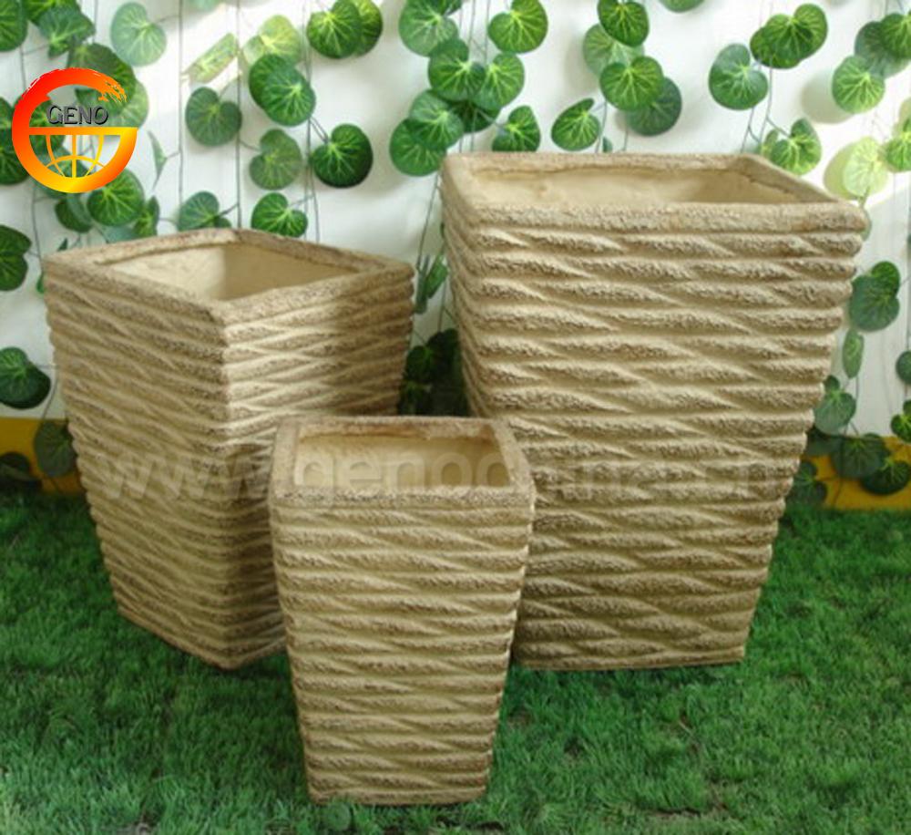 Fiberglass Flower Pots Amp Planters : Concrete flower pot molds wooden planter fiberglass