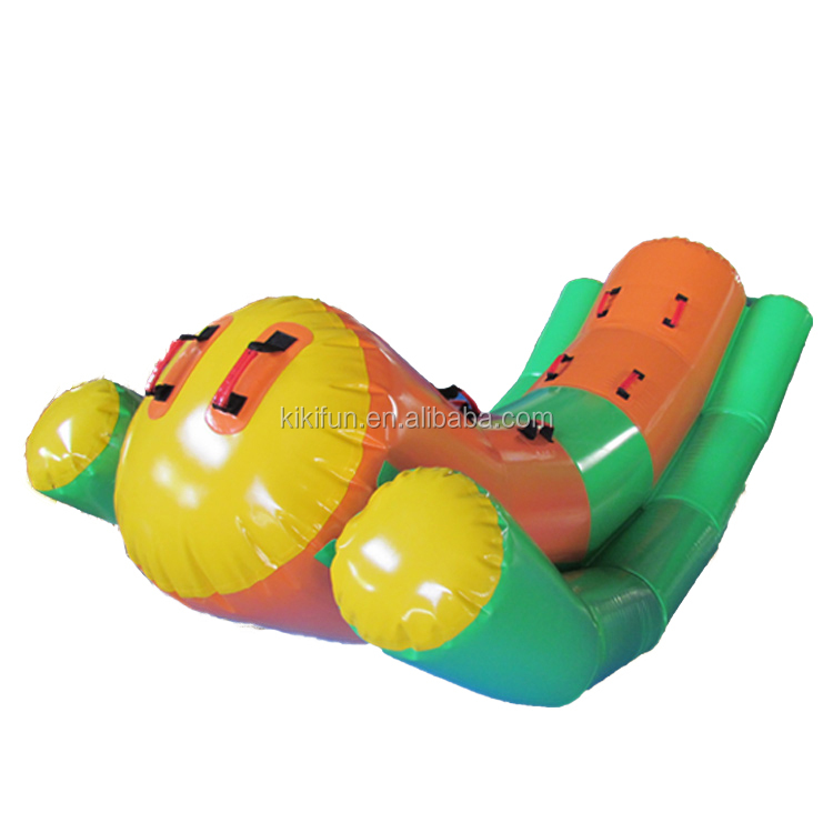 high quality inflatable floating water park playground equipment with good price / funny small inflatable seesaw for children