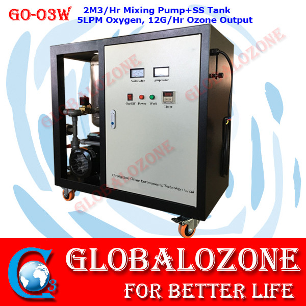 GO-O3W Ozone water generator with nano filtration system for fish pond