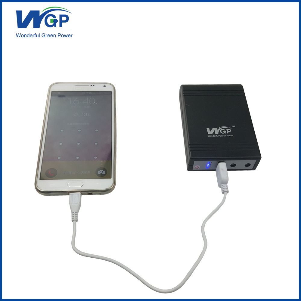 Solar Powered Phone Charger Power Bank 5000mah With USB Led Light