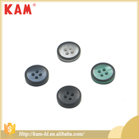 Fashion plating sewing resin three color four hole mens shirt button clip