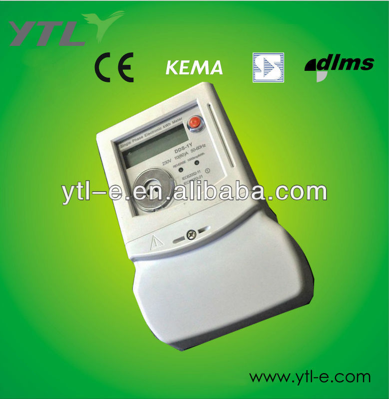 Smart IC card Single Phase Prepaid Electricity meter