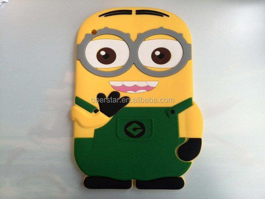 New Wholesale Price Minion Despicable Me Case Silicone Soft Cover For iPad 2 3 4