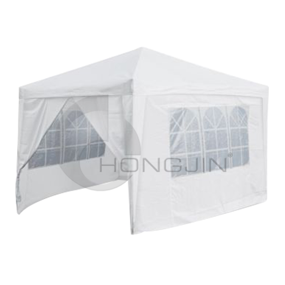 Hongjin 3 x 3m White Outdoor Commercial Gazebos Tent