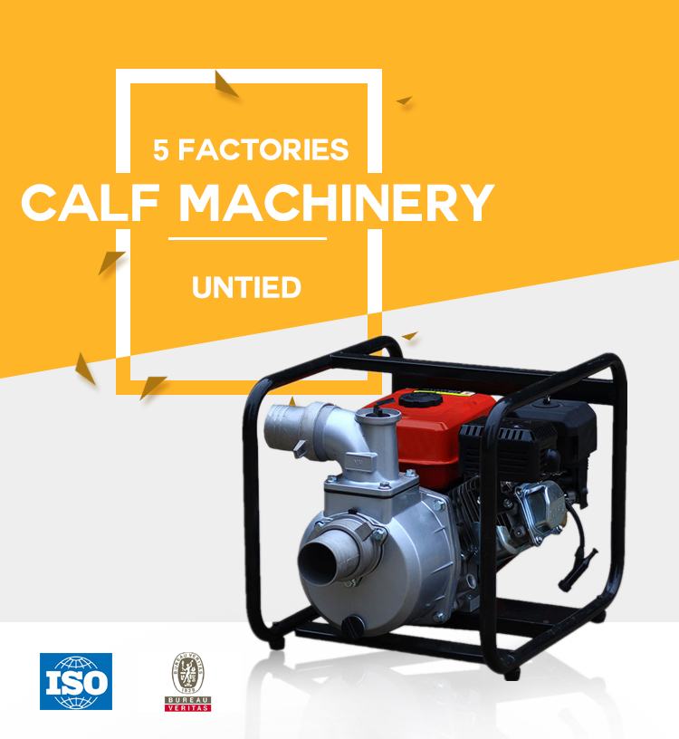 Self-priming gasoline engine portable centrifugal water pump