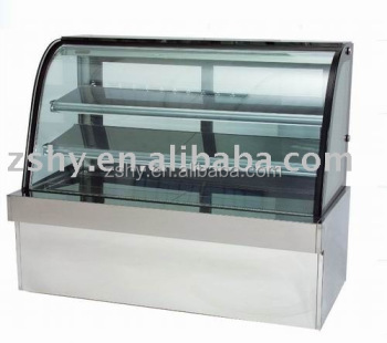 Refrigerated arc glass cake showcase