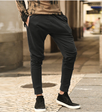 mens Casual trousers harem pants men black fashion swag dance drop crotch hip hop sweat pants sweatpants for men