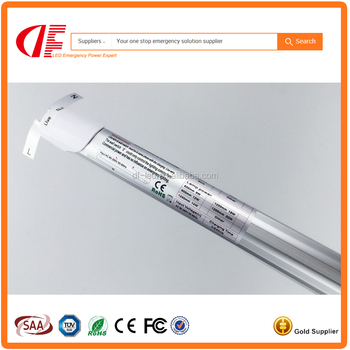Emergency 2ft LED T8 Tube 18W 110-265V 600mm Clear Emergency Cool White supplied with a battery back-up pack