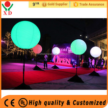 Factory price Party/ event decoration inflatable tripod stand led light ball balloon