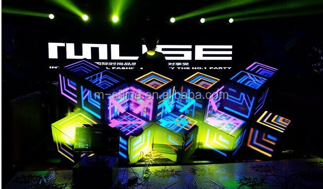 Creative flexible Hot sale full color led display screen video DJ booth