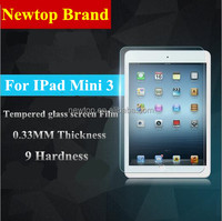 0.33MM explosion-proof tempered glass film for ipad mini 3 , 9H tempered glass screen protector for ipad mini 3