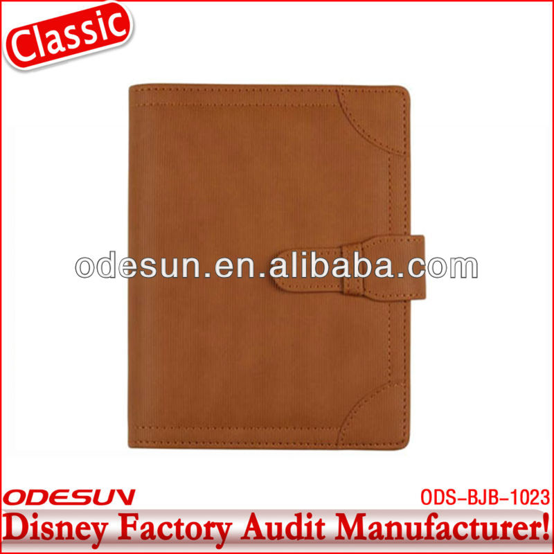 Disney factory audit manufacturer's pu notebook a5 pu leather notebook cover 140020