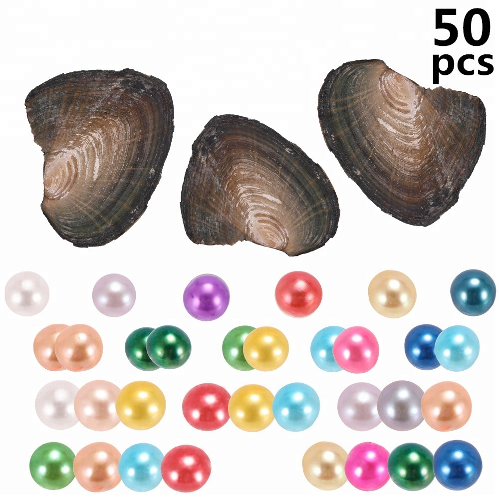 Free shipping 50pcs 6-8mm Single, Twins, Triplets and <strong>Quads</strong> Round Pearls in Frenshwater oysters individually