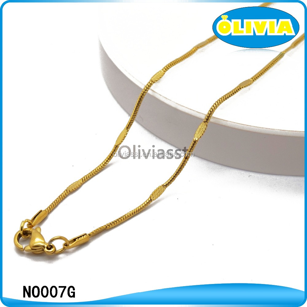 Wholesale chic new style gold chain necklace for men