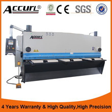 ACCURL Hydraulic Variable Rake Angle Guillotine Shearing Machine,for cutting of Stainless Steel sheets up to 2.5mm thickness