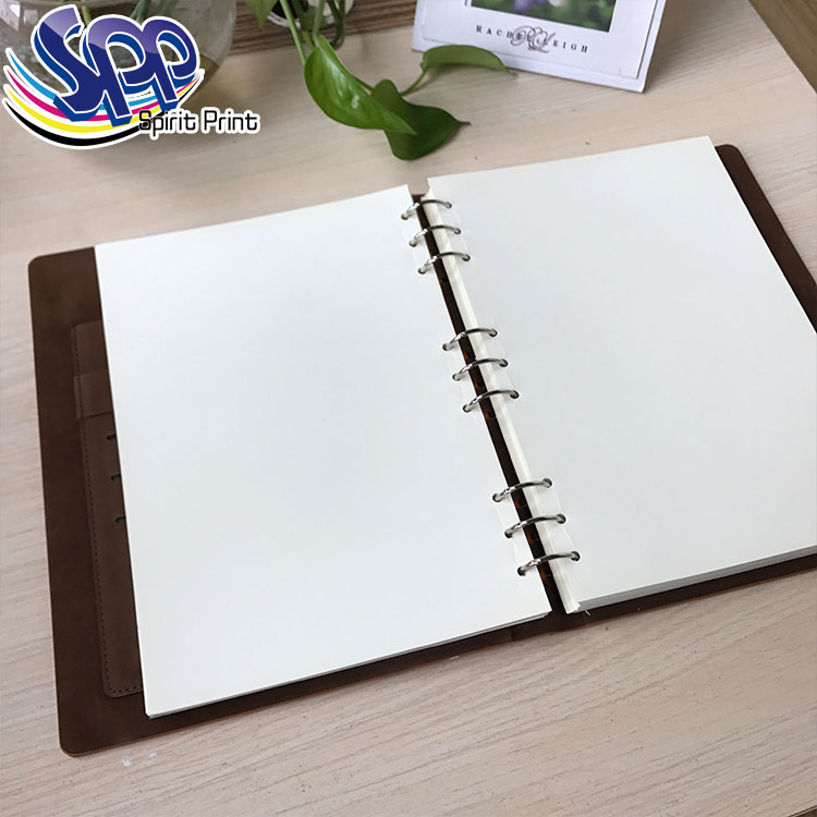 2017 diary PU leather cover notebook with elastic band leather Diary&Planner&Organizer