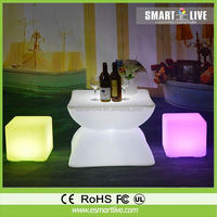 lighted display led cube/nice large furniture cube chair