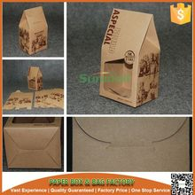 custom printed kraft paper bread bakery box with PE window