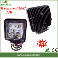New style auto 15w led work lights for off road, ATV, heavy duty vehicles IP67