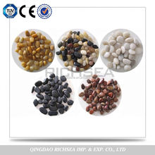 Mixed Color Natural Granite Pebble Paving Stone For Garden