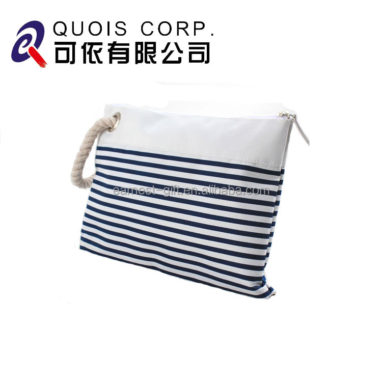 Small Size Stripe Storage Bag Promotional Microfiber Cosmetic Bags