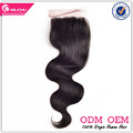Top selling body wave hair 4*4 brazilian closure