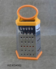6 in 1 kitchen grater with plastic handle