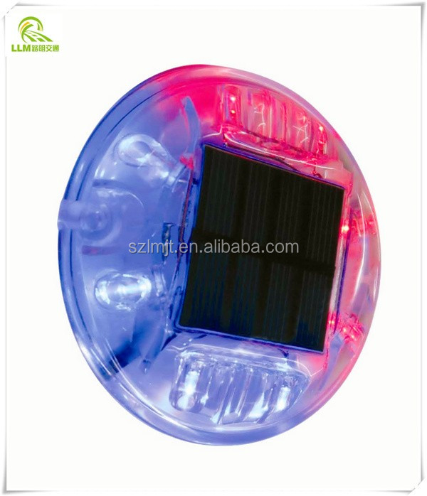 Crystal round small LED solar driveway road marker light
