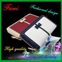 New arrival and hot selling with card holder design genuine / pu leather wallet for girl