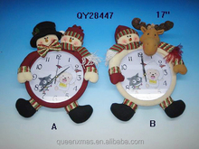 17 inches Competitive Price Christmas Wall Clocks,Hot Sale Christmas Wall Clocks Decor