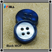 Coated natural real mother of pearl shell buttons