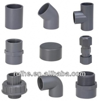 DIN,JIS,BS,ASTM,ISO standard pvc pipe fitting grey