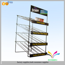Factory supplier custom retail store free standing metal wire spray can display rack