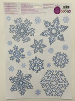 Glitter UV resistant Christmas Snowflake Window Sticker