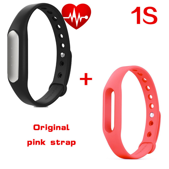 Original Xiaomi Mi band 1S Bracelet Heart Rate Miband Monitor Tracker Smart Fitness Wristband for Android IOS