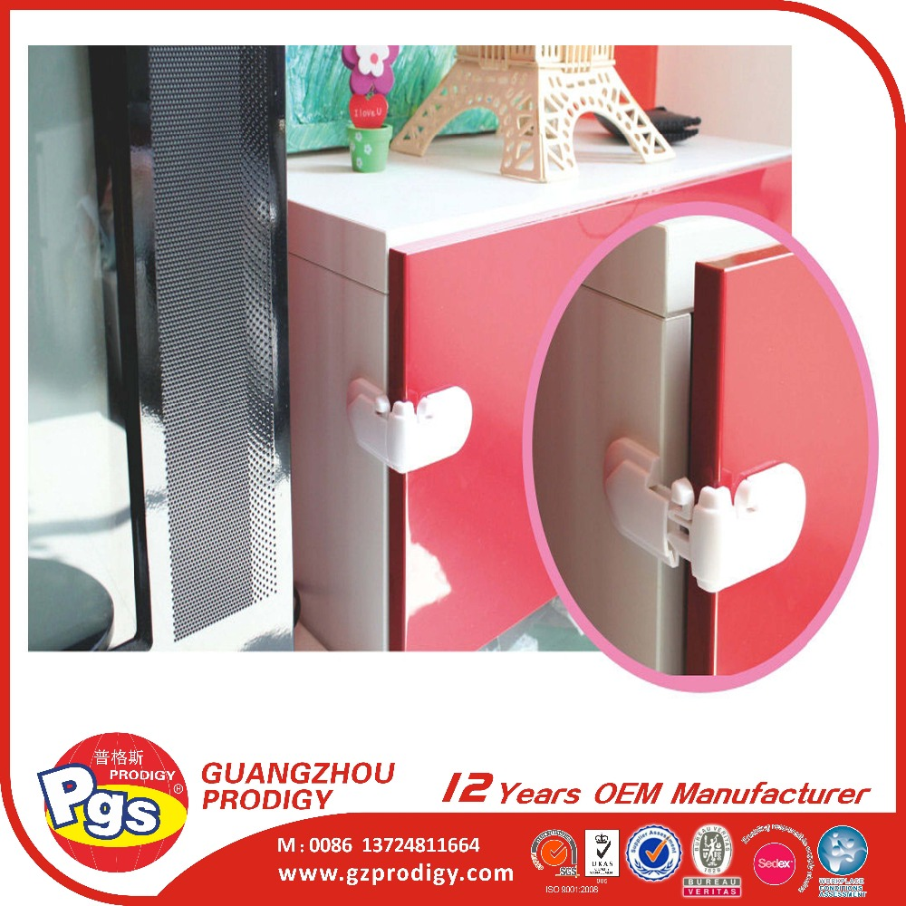 child cabinet drawer cupboard safety lock plastic adhesive lock window angle lock