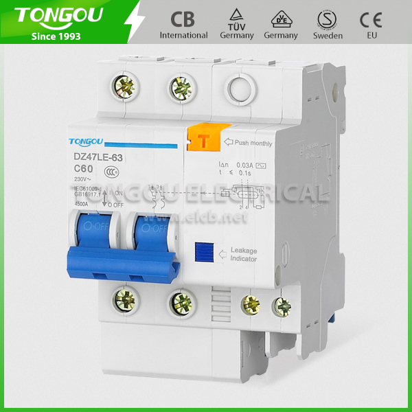 DZ47LE Residual Current Operated Circuit Breaker with overcurrent protection(RCBO)with EAC certificate