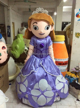 New design elsa anna sofa costume adult mascot costume with cooling fan funny costumes