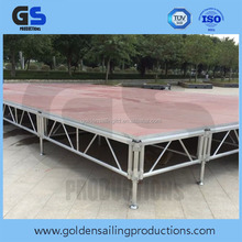 Hot selling modular red carpet aluminum stage platform , stage lighting truss system