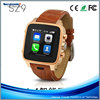 2015 Smartwatches China Bluetooth SZ9 Wooden Smart Watch Phone