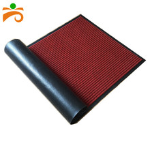 Double strip 3D polyester custom PVC backing floor mat roll