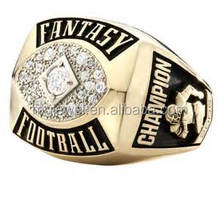 custom fashionable fantasy trophy rings youth football championship rings