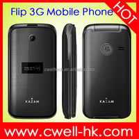 Made in China Mobile Phone KAZAM Life C6 Flip WCDMA 3G Feature Phone